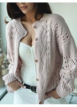 Sweter Ażurowy Pudrowy róż Versada wyprzedaż Versada - kod rabatowy