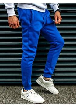 Spodnie męskie dresowe niebieskie Recea  Recea promocja Recea.pl  - kod rabatowy