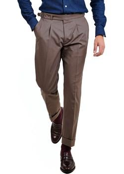Spodnie z jedną zakładką Modena (Chino brąz/khaki) 4 Gentleman 4 Gentleman - kod rabatowy