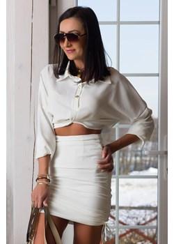 Elegancki komplet ze spódnicą Set Lopez ecru Elizabeth Paris - kod rabatowy