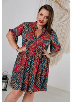 Sukienka ARABELA Plus Size Wzór 4 TONO - kod rabatowy