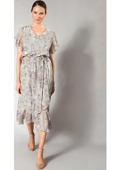 Letnia sukienka z asymetryczną falbaną MOLTON Molton Molton - kod rabatowy
