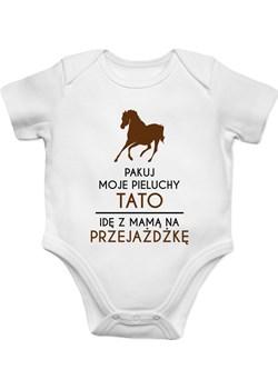 Pakuj moje pieluchy tato - konie - body dziecięce z nadrukiem Koszulkowy - kod rabatowy