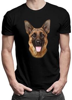 Shepard dog - męska koszulka z nadrukiem okazyjna cena Koszulkowy - kod rabatowy