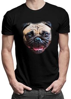 Mops - męska koszulka z nadrukiem promocja Koszulkowy - kod rabatowy
