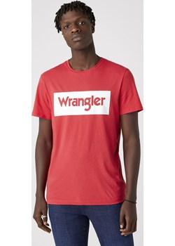 T-shirt Męski Wrangler LOGO TEE w kolorze czerwonym Wrangler promocja Texas Club - kod rabatowy