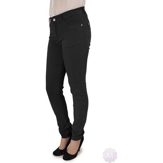 a7d0cc20c7 Czarne damskie spodnie rurki jeansowe wysoki stan mercerie-pl czarny damskie  ...