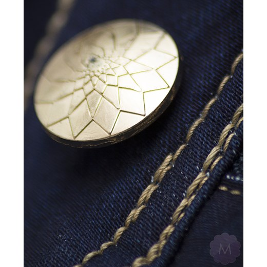 6132ed1b8a329b ... Spodnie jeansy damskie prosta nogawka z wyższym stanem granatowe  mercerie-pl zielony wysokie ...