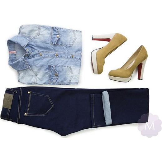 91e1c962e8afa7 ... Spodnie jeansy damskie prosta nogawka z wyższym stanem granatowe  mercerie-pl czarny stan