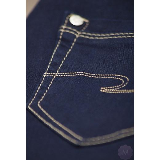 74fae094b0ca8c Spodnie jeansowe damskie prosta nogawka z wyższym stanem granatowe mercerie-pl  czarny minimalistyczne w Domodi