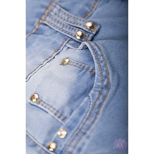 15e50c58 Spodnie jeansy rurki jasno niebieskie z wyższym stanem mercerie-pl  niebieski jeans
