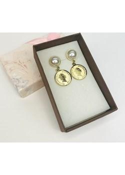 Kolczyki wiszące perełka z monetą Bunnyblink BunnyBlink - kod rabatowy