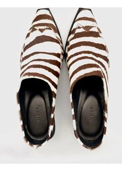 Eternity mules brown zebra biały 36 Musk efancy.pl - kod rabatowy