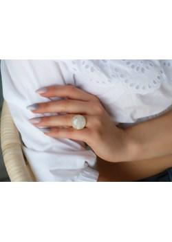 Złoty pierścionek z kamieniem księżycowym- srebro 925 pozłacane 14 (17mm) coccola.pl - kod rabatowy