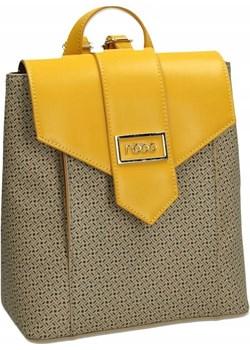 Efektowny plecak damski ze skóry ekologicznej pokrytej wzorem — Nobo Nobo okazja rovicky.eu - kod rabatowy