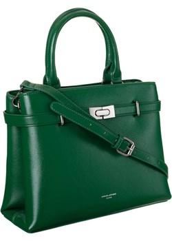 Elegancka, dwukomorowa torebka damska listonoszka - David Jones David Jones torebki-skorzane.pl - kod rabatowy