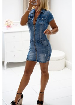 Sukienka jeansowa ROSALIE Obsessionforyou ObsessionForYou - kod rabatowy