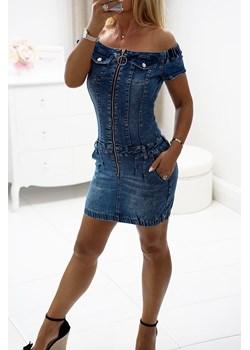 Sukienka jeansowa VIVIANE Obsessionforyou ObsessionForYou - kod rabatowy