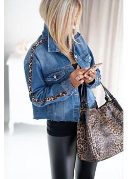 Kurtka jeans OSANA z paskiem z pantery Obsessionforyou ObsessionForYou - kod rabatowy