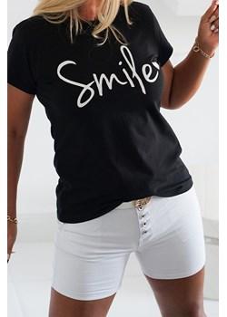 T-shirt SMILE Black Obsessionforyou ObsessionForYou - kod rabatowy