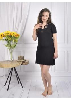 Koszula nocna koronkowa, krótki rękaw, Liatra  Equlik eQulik - bielizna nocna - kod rabatowy