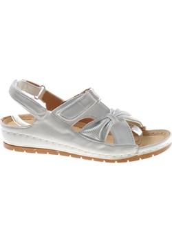 Damskie sportowe sandały na rzep Białe /E1-3 8694 S313/ Pantofelek24 pantofelek24.pl - kod rabatowy