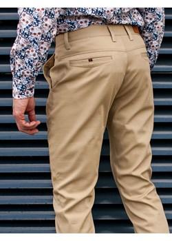 Spodnie męskie chinosy beżowe Recea Recea promocyjna cena Recea.pl - kod rabatowy