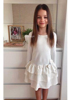 Sukienka Dla Dziewczynki Premium Baby Doll - ECRU Vanilove - kod rabatowy