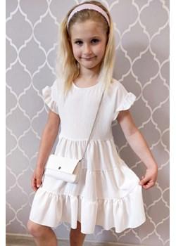 Sukienka dla Dziewczynki Isabelle Ecru Vanilove - kod rabatowy
