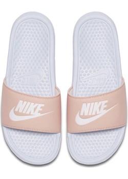 Wygodne klapki damskie Nike Benassi JDI 343881-412 Błękitny 35,5 Nike an-sport - kod rabatowy
