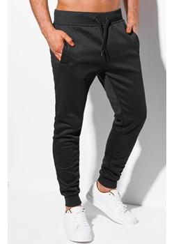 Spodnie męskie dresowe 1111P - czarne Edoti.com okazja Edoti.com - kod rabatowy
