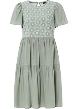 Sukienka z ażurowym haftem   bonprix bonprix - kod rabatowy