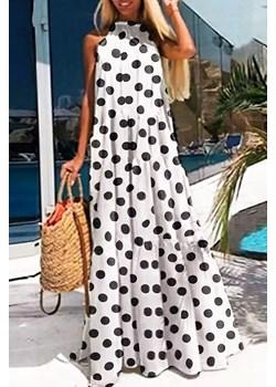 Sukienka ESTILDA WHITE Ivet Shop okazyjna cena - kod rabatowy
