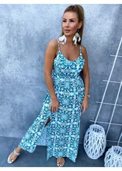 Sukienka SALERNO, green Ricca Fashion Ricca Fashion - kod rabatowy