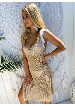 Narzutka/sukienka plażowa  BOLONIA gold Ricca Fashion Ricca Fashion - kod rabatowy