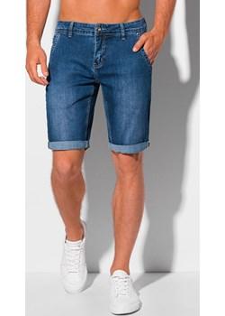 Krótkie spodenki męskie jeansowe 349W - niebieskie Edoti.com Edoti.com okazja - kod rabatowy