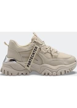 Buty Sportowe Sneakersy Na Platformie Beżowe (36) Labuty LaButy.pl - kod rabatowy