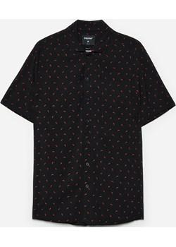 Cropp - Koszula z krótkim rękawem - Czarny Cropp Cropp - kod rabatowy