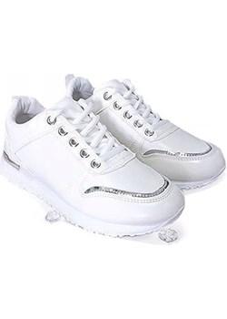 SNEAKERSY sportowe białe BOTKI KBU184 Bless  onaion58 - kod rabatowy
