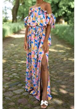 Sukienka Armina Flowers Laurella LAURELLA - kod rabatowy
