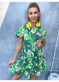 Sukienka SORELLA, green Ricca Fashion promocja Ricca Fashion - kod rabatowy