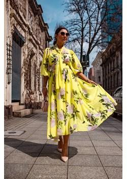 Maxi sukienka z szyfonu L Shoq - kod rabatowy