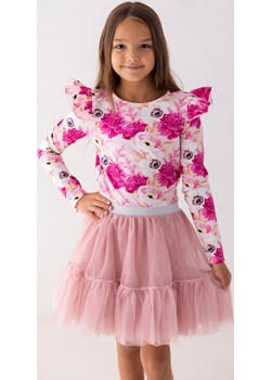 Różowa bluzka w peonie 98 Jesień/Zima Myprincess / Lily Grey MKA GROUP - kod rabatowy