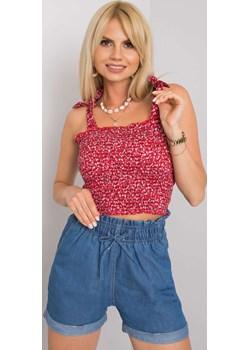 Top bluzka czerwona Miandmolly okazja MIANDMOLLY - kod rabatowy
