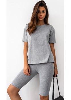 Komplet t-shirt + kolarki w kolorze szarym DOUBLE by Marsala Marsala - kod rabatowy