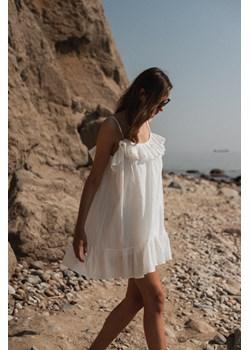 Sukienka z tkaniny plumeti w kolorze ecru - MALIBU BY MARSALA Marsala - kod rabatowy