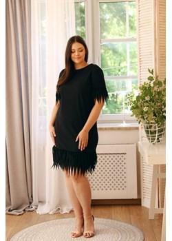 Czarna sukienka INFLUENCER TONO - kod rabatowy