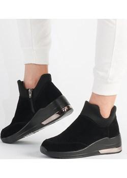 Czarne sneakersy damskie FILIPPO DBT3029/21 Suzana.pl promocyjna cena suzana.pl - kod rabatowy