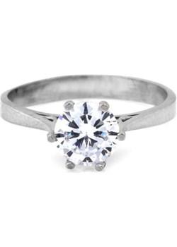 Srebrny pierścionek zaręczynowy 925 z cyrkonią klasyka Lovrin LOVRIN - kod rabatowy