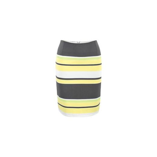 ad3cfec0 Spódnica wąska paski żółte semper szary cień do powiek